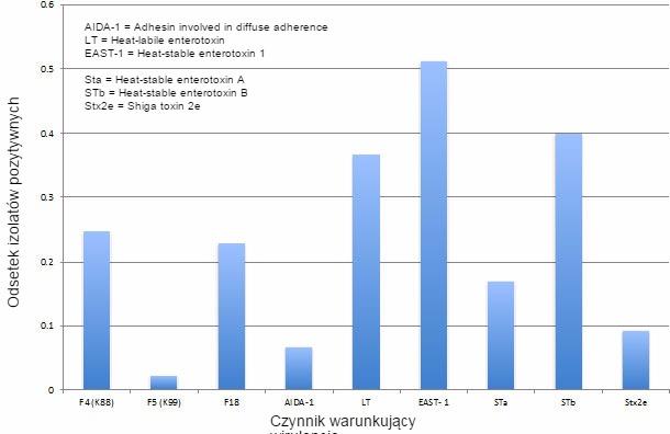 Prewalencja czynników wirulencji E.Coli