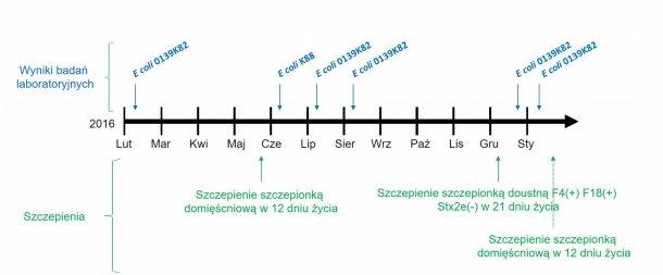 Ryc. 1: Analiza laboratoryjna i kalendarz szczepień.