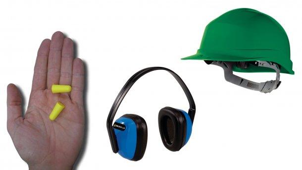 Stopery do uszu mogą uchronić uszy od hałasu. Słuchawki mogą być równie skuteczne, jednak zakładanie ich do kasku jest problematyczne.