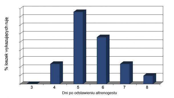 Odsetek loszek wykazujących ruję 18 dni po odstawieniu altrenogestu