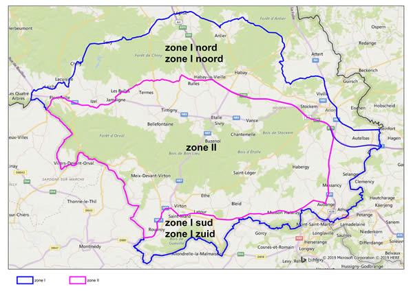 <p>ASF areas Belgium</p>