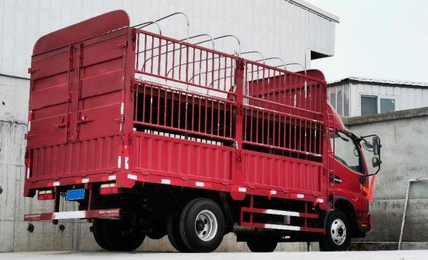 Rys. 2. Ciężarówka wewnętrzna do przewozu niewielkiej liczby świń. Dzięki uprzejmości DanAg Group, Chiny.