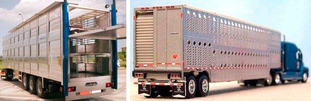 Rys. 3. Ciężarówka do przewozu świń w Europie. Źródło: NEWNION i Rys. 4. Ciężarówka do przewozu świń w w Ameryce Płn. Źródło: Illinois Truck Enforcement Association