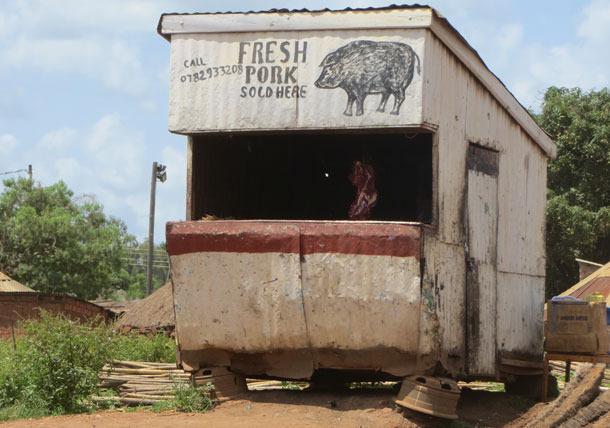 Rzeźnik w Gulu, Uganda
